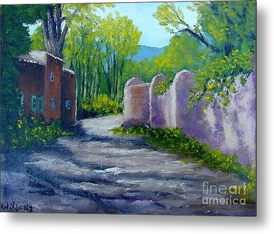 Metal Print featuring the painting Taos Shadows by Fred Wilson