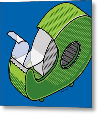 Metal Print featuring the digital art Tape Dispenser by Ron Magnes