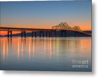 Tappan Zee Bridge After Sunset II Metal Print by Clarence Holmes