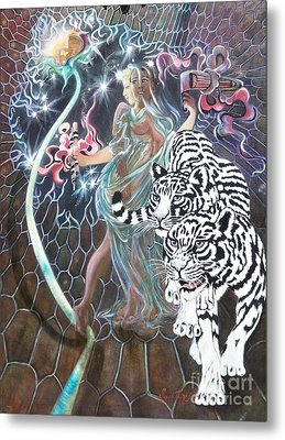 Metal Print featuring the painting Tapping The Lifeline by Sigrid Tune