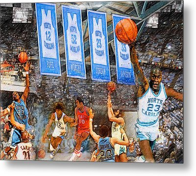 Tar Heel Greats Metal Print by John Farr
