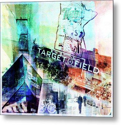 Target Field Us Bank Staduim  Metal Print