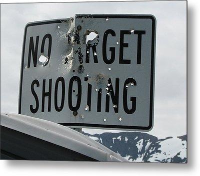 Target Shooting  Metal Print