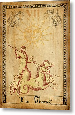 Tarot Card The Chariot Metal Print by Cinema Photography