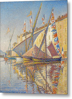 Tartans With Flags Metal Print