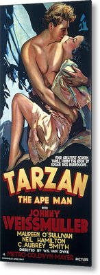 Tarzan The Ape Man Lobby Promotion 1932 Metal Print by Daniel Hagerman