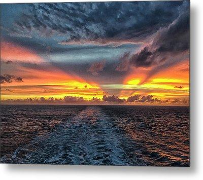 Metal Print featuring the photograph Tasman Sea Sunset by Bill Barber