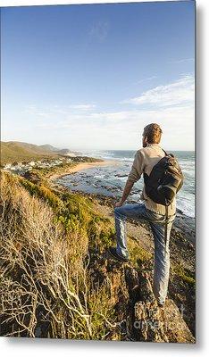 Tasmania Bushwalking Tourist Metal Print
