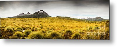 Tasmania Mountains Of The East-west Great Divide  Metal Print