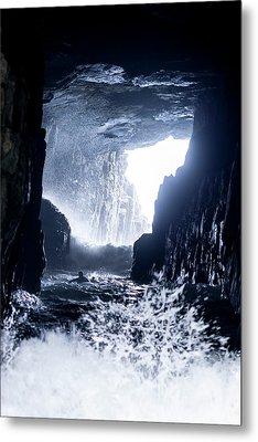 Tasmanian Cave Surfing Metal Print by Sean Davey