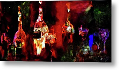 Taste Of Wine Metal Print