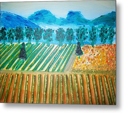 Taste The Vineyard Metal Print by Alexandra Torres