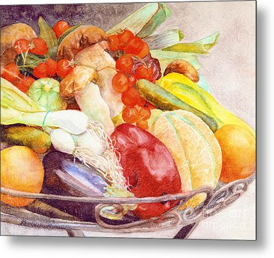 Metal Print featuring the painting Tastes Of Tuscany by Bonnie Rinier