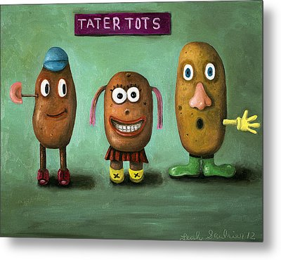 Tater Tots Metal Print by Leah Saulnier The Painting Maniac