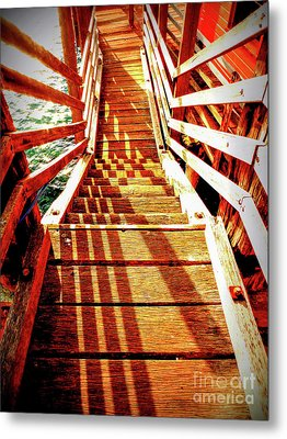 Tathra Wharf Stairs Metal Print by Lexa Harpell