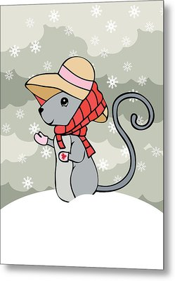 Tatty Winter Metal Print by Christy Beckwith