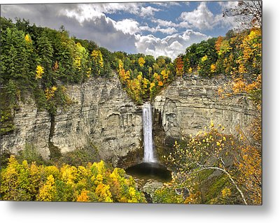 Taughannock Falls Autumn Metal Print by Christina Rollo