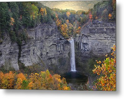 Taughannock Falls In Color Metal Print by Jessica Jenney