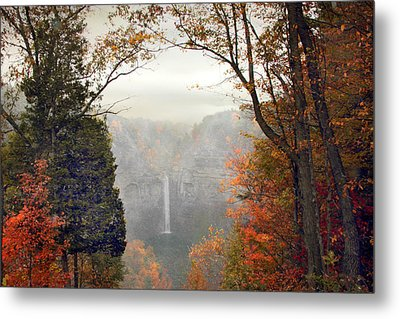 Taughannock In The Mist Metal Print by Jessica Jenney