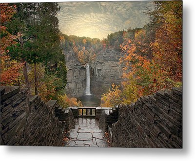 Taughannock Lights Metal Print by Jessica Jenney