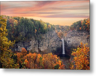 Taughannock Sunset Metal Print by Jessica Jenney