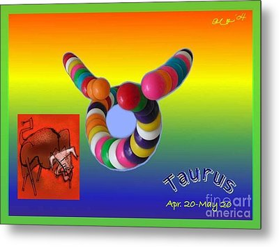 Metal Print featuring the painting Taurus by The Art of Alice Terrill