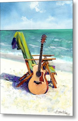 Taylor At The Beach Metal Print