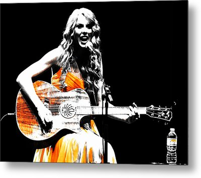Taylor Swift 9s Metal Print by Brian Reaves