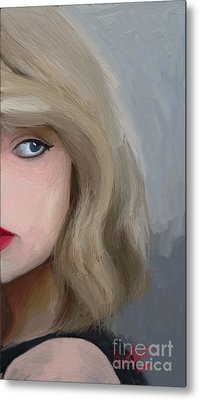 Taylor Swift  Metal Print by Barbara Stanley
