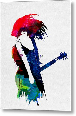 Taylor Watercolor Metal Print by Naxart Studio