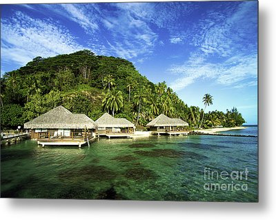 Te Tiare Resort Metal Print by David Cornwell/First Light Pictures, Inc - Printscapes