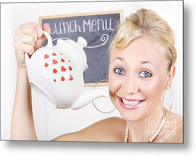 Tea And Coffee Service With Love Metal Print by Jorgo Photography - Wall Art Gallery