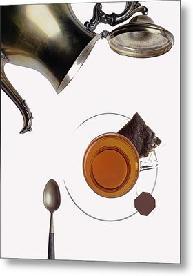 Tea For One Metal Print by Steven Huszar