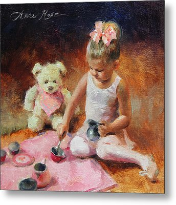 Tea For Two Metal Print by Anna Rose Bain