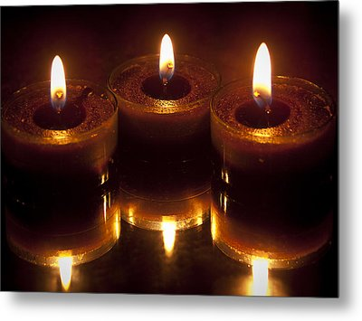 Tea Lights Metal Print