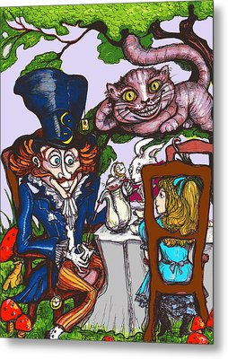 Tea Party Metal Print by Rae Chichilnitsky