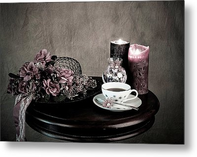 Tea Party Time Metal Print by Sherry Hallemeier