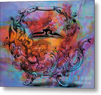 Tea Pot Metal Print by Tammera Malicki-Wong