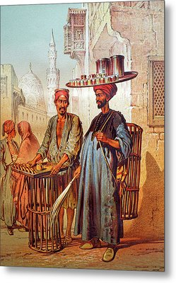 Metal Print featuring the photograph Tea Seller by Munir Alawi