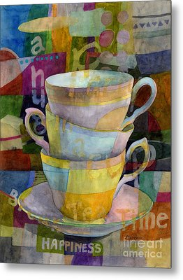 Tea Time Metal Print by Hailey E Herrera