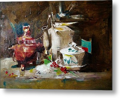 Tea Time Metal Print by Khalid Saeed
