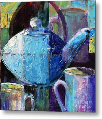 Metal Print featuring the photograph Tea With Friends by Priti Lathia