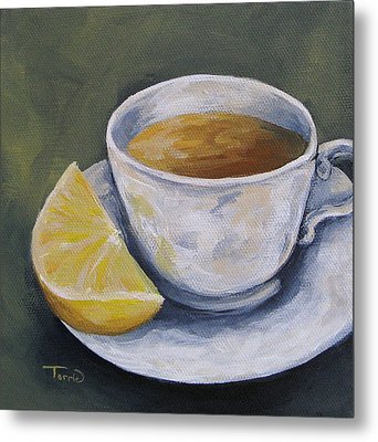 Tea With Lemon Metal Print by Torrie Smiley