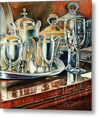 Tea With Marguerite Metal Print