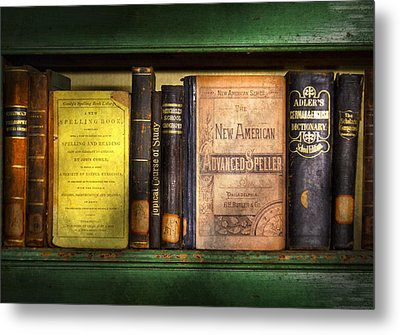 Teacher - Books You Use In School  Metal Print by Mike Savad