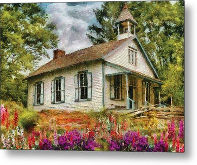 Teacher - The School House Metal Print by Mike Savad