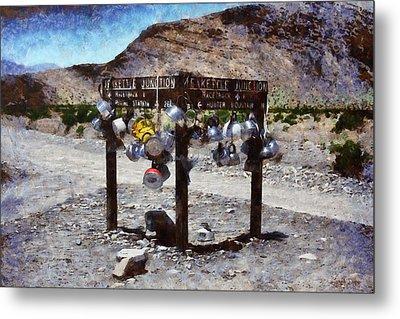 Teakettle Junction At Death Valley - Pa Metal Print