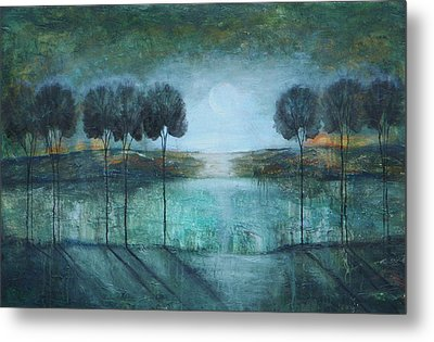 Teal Lake Metal Print