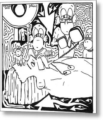 Team Of Monkeys Md Metal Print by Yonatan Frimer Maze Artist