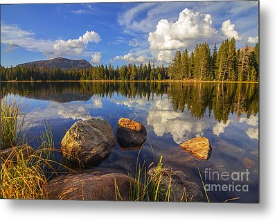 Metal Print featuring the photograph Teapot Lake by Spencer Baugh